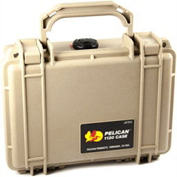 Pelican Case Small 1120 Dry Box, Tan, 256