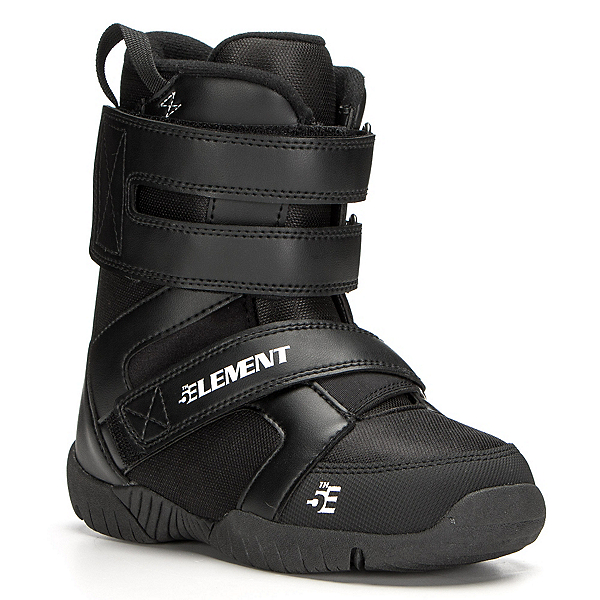 5th Element ST Mini Velcro Kids Snowboard Boots, Black, 600