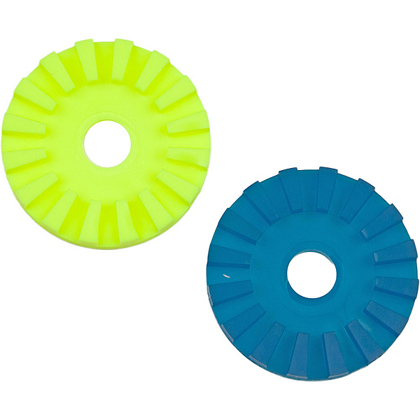 Scotty Slip Discs - Pair 2019, Yellow-Turq, 600