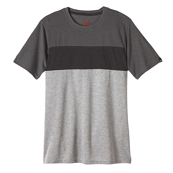 Prana Jax Crew Mens T-Shirt, Gravel, 600