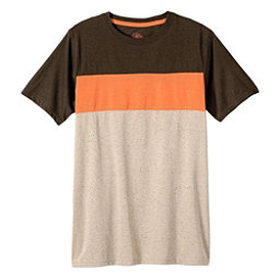 Prana Jax Crew Mens T-Shirt, Mud, 256