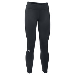 Under Armour Base 3.0 Womens Long Underwear Pants, Black-Glacier Gray, 256