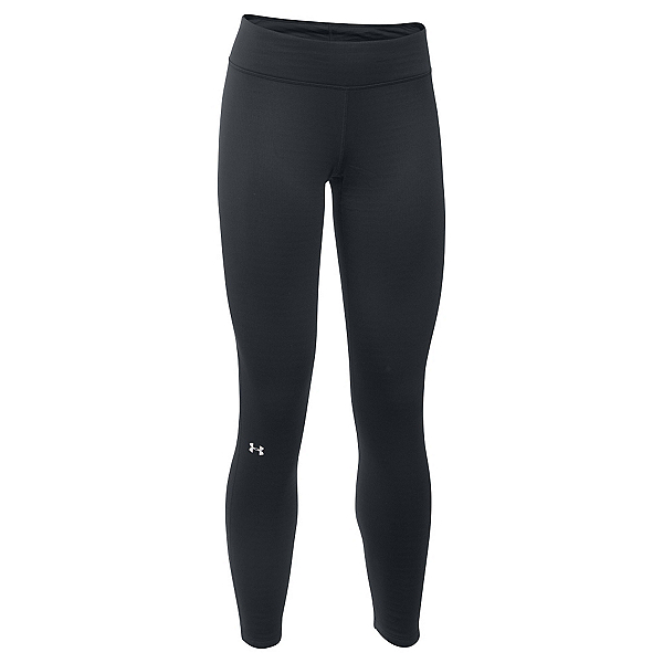 Under Armour Base 3.0 Womens Long Underwear Pants, Black-Glacier Gray, 600