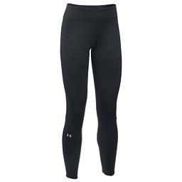 Under Armour Base 4.0 Womens Long Underwear Pants, Black-Glacier Gray, 256