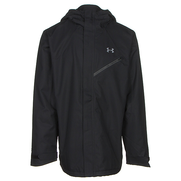 Under Armour ColdGear Infrared Powerline Mens Shell Ski Jacket, Black-Graphite-Steel, 600