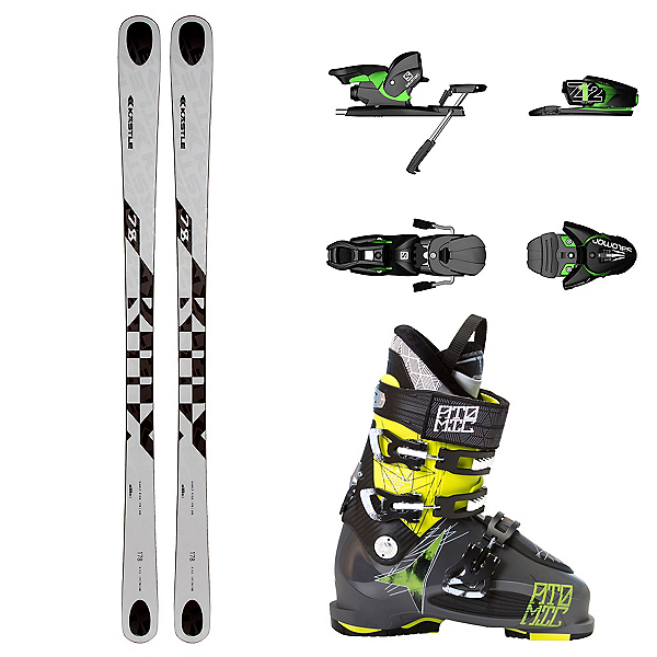 Kastle BMX 78, Salomon Z12, and Atomic Waymaker Carbon 110X Ski Package, , 600