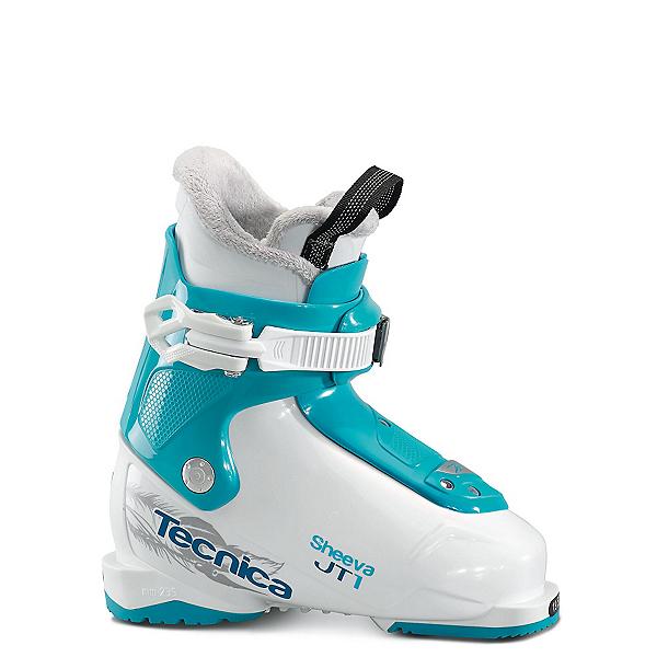 Tecnica JT 1 Sheeva Girls Ski Boots 2018, Bianco-Blue Bird, 600