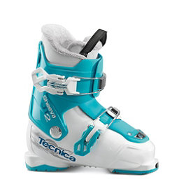 Tecnica JT 2 Sheeva Girls Ski Boots 2018, Bianco-Blue Bird, 256