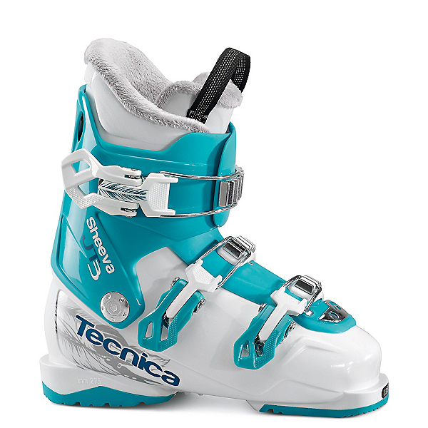 Tecnica JT 3 Sheeva Girls Ski Boots, Bianco-Blue Bird, 600