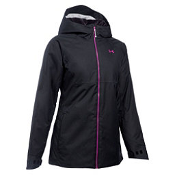 Under Armour ColdGear Infrared Snowcrest Womens Insulated Ski Jacket, Black-Glacier Gray-Magenta Shock, 256