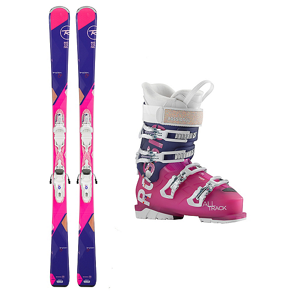 Rossignol Temptation 80 AllTrack 70 Womens Ski Package, , 600