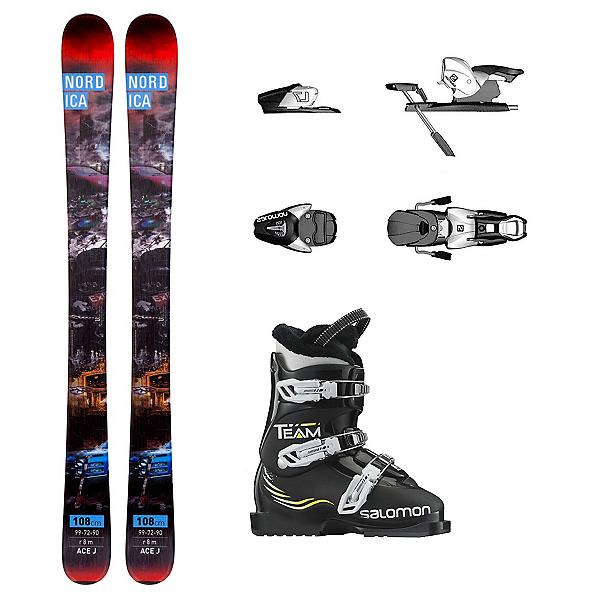 Nordica Ace Team T3 Kids Ski Package, , 600