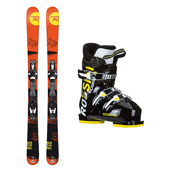 Rossignol Sprayer Pro Comp J3 Kids Ski Package, , 600