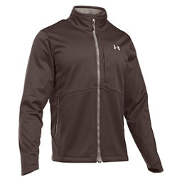 Under Armour ColdGear Infrared Softershell Mens Soft Shell Jacket, Maverick Brown-Graystone, 256
