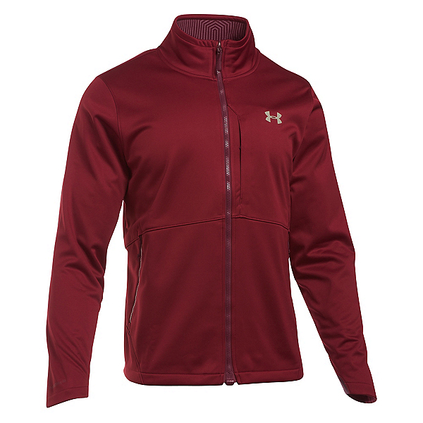 Under Armour ColdGear Infrared Softershell Mens Soft Shell Jacket, Cardinal-Graystone, 600