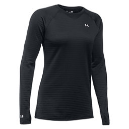 Under Armour Base 3.0 Womens Long Underwear Top, Black-Glacier Gray, 256