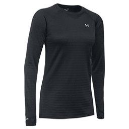 Under Armour Base 4.0 Womens Long Underwear Top, Black-Glacier Gray, 256