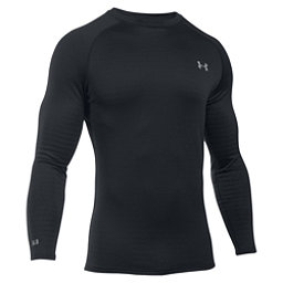 Under Armour Base 4.0 Crew Mens Long Underwear Top, Black-Steel, 256