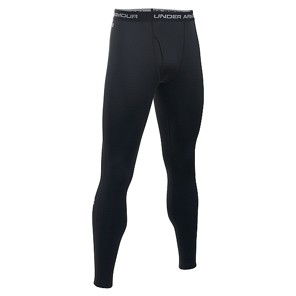 Under Armour Base 2.0 Mens Long Underwear Pants, Black-Steel, 600