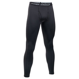 Under Armour Base 3.0 Mens Long Underwear Pants, Black-Steel, 256