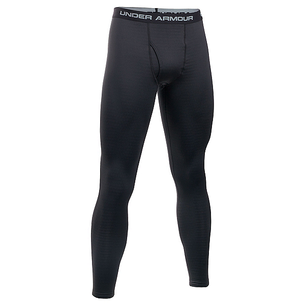 Under Armour Base 3.0 Mens Long Underwear Pants, Black-Steel, 600