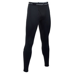 Under Armour Base 4.0 Mens Long Underwear Pants, Black-Steel, 256