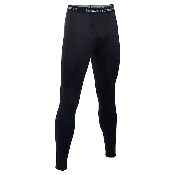 Under Armour Base 4.0 Mens Long Underwear Pants, Black-Steel, 600
