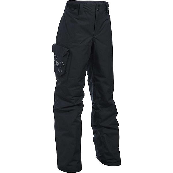 Under Armour ColdGear Infrared Chutes Kids Ski Pants, Black-Black-Graphite, 600