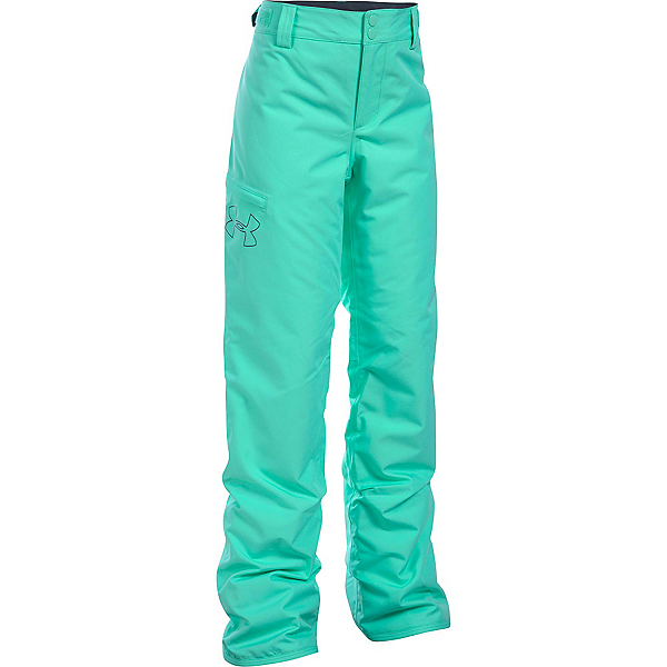 Under Armour ColdGear Infrared Chutes Girls Ski Pants, Crystal-Stealth Gray, 600