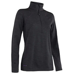 Terramar Thermawool Half-Zip Womens Long Underwear Top, Black Heather, 256