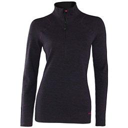 Terramar Thermawool Half-Zip Womens Long Underwear Top, Purple Heather, 256