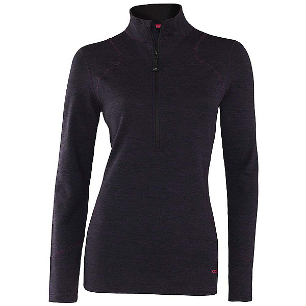 Terramar Thermawool Half-Zip Womens Long Underwear Top, Purple Heather, 600