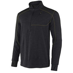Terramar Thermawool Half-Zip Mens Long Underwear Top, Smoke Heather, 256