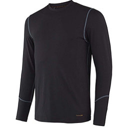 Terramar Thermolator Crew with Mesh Mens Long Underwear Top, Black, 256