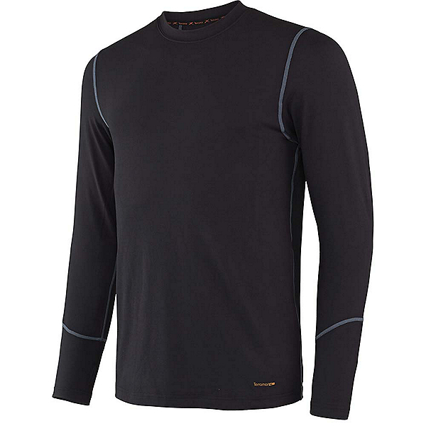 Terramar 2.0 Thermolator Crew with Mesh Mens Long Underwear Top, Black, 600