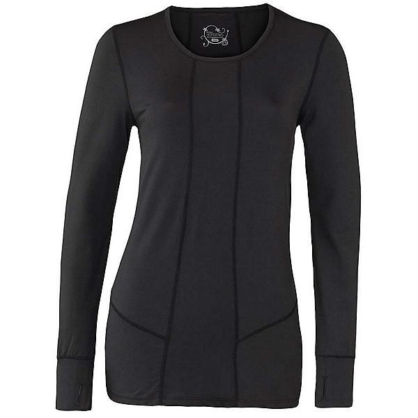 Terramar 2.0 Cloud Nine Scoop Womens Long Underwear Top, Black, 600