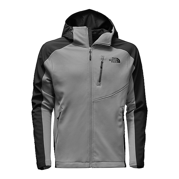 The North Face Tenacious Hybrid Hoodie Mens Jacket, Monument Grey-TNF Black, 600