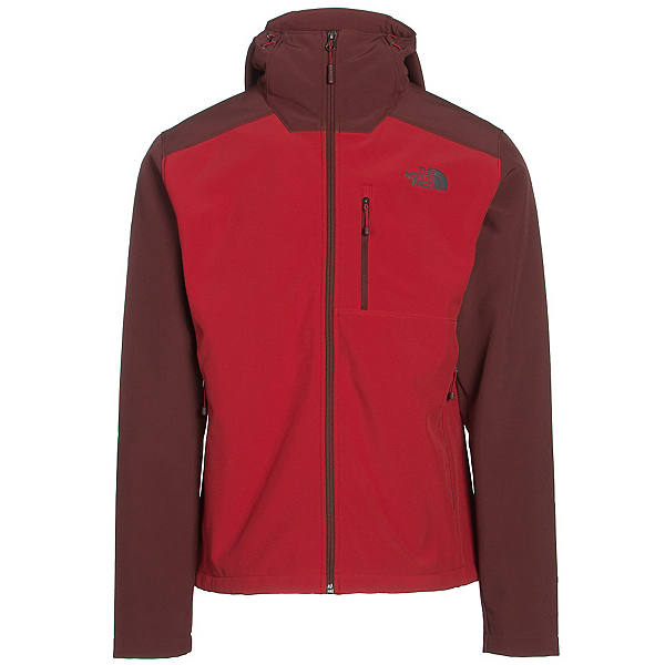 The North Face Apex Bionic 2 Hooded Mens Soft Shell Jacket (Previous Season), Cardinal Red-Sequoia Red, 600