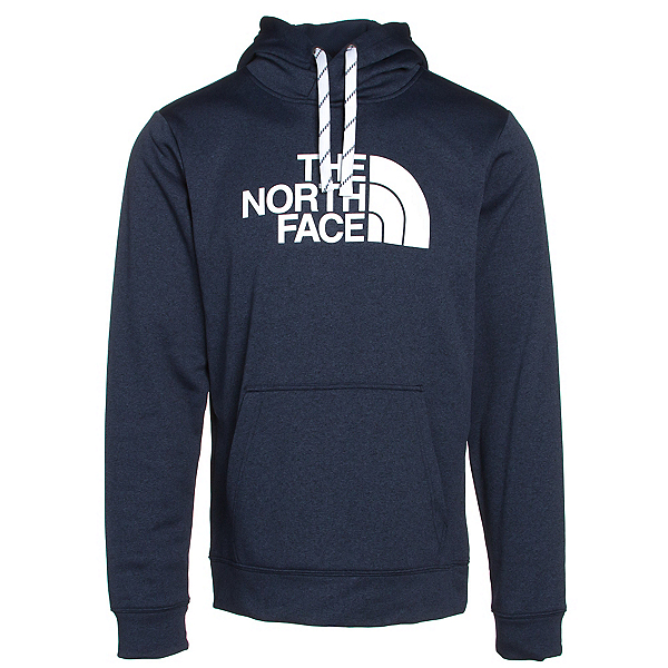 The North Face Surgent Half Dome Mens Hoodie (Previous Season), Cosmic Blue Light Heather-TNF, 600