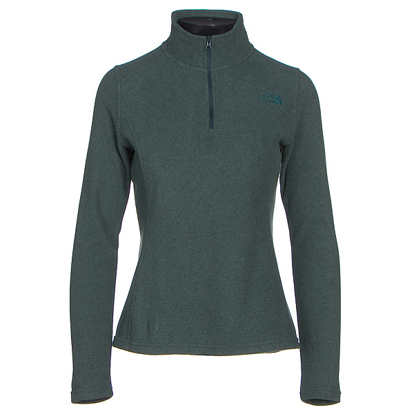 The North Face Glacier 1/4 Zip Womens Mid Layer (Previous Season), Darkest Spruce Heather, 600