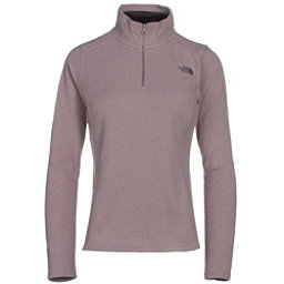 The North Face Glacier 1/4 Zip Womens Mid Layer (Previous Season), Quail Grey Heather, 256