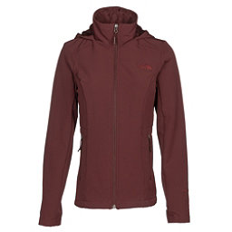 The North Face Shelbe Raschel Hoodie Womens Soft Shell Jacket, Sequoia Red, 256