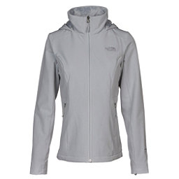The North Face Shelbe Raschel Hoodie Womens Soft Shell Jacket, High Rise Grey, 256