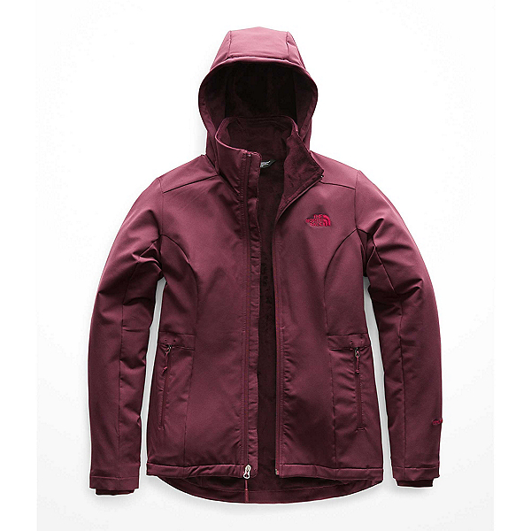 The North Face Shelbe Raschel Hoodie Womens Soft Shell Jacket (Previous Season), Fig, 600