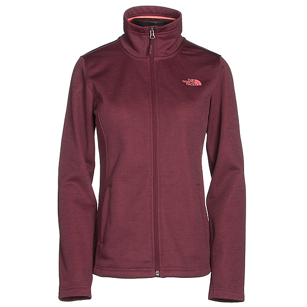 The North Face Meadowbrook Raschel Full Zip Womens Jacket (Previous Season), Deep Garnet Red Heather, 600