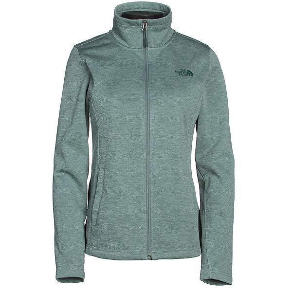 The North Face Meadowbrook Raschel Full Zip Womens Jacket (Previous Season), Balsam Green Heather, 600