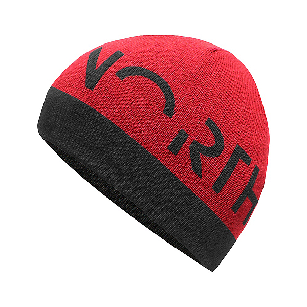 The North Face Youth Anders Beanie Kids Hat (Previous Season), TNF Black-TNF Red, 600