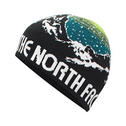 The North Face Youth Anders Beanie Kids Hat (Previous Season), TNF Black-Chive Green, 256
