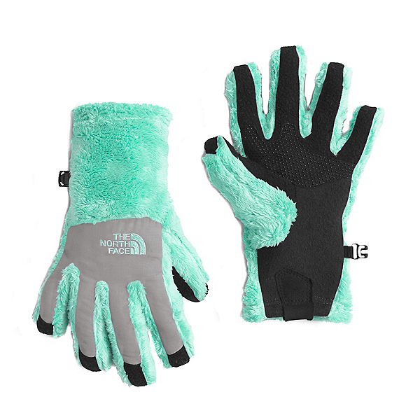 The North Face Denali Thermal Etip Girls Gloves (Previous Season), Ice Green, 600