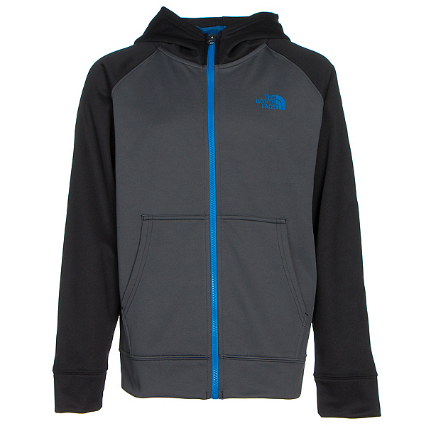 The North Face Boys Surgent Full Zip Hoodie (Previous Season), Graphite Grey, 600